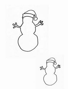 Snowman With Top Hat Outline Page Coloring Pages