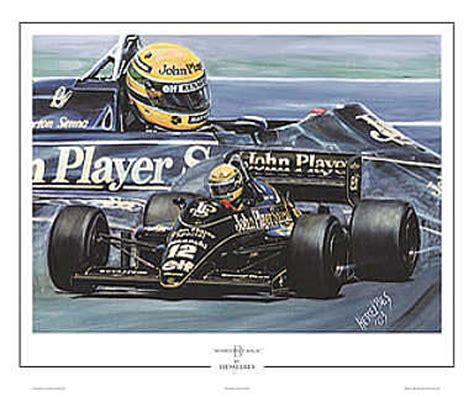 automobile art bes hessel ayrton senna john player lotus