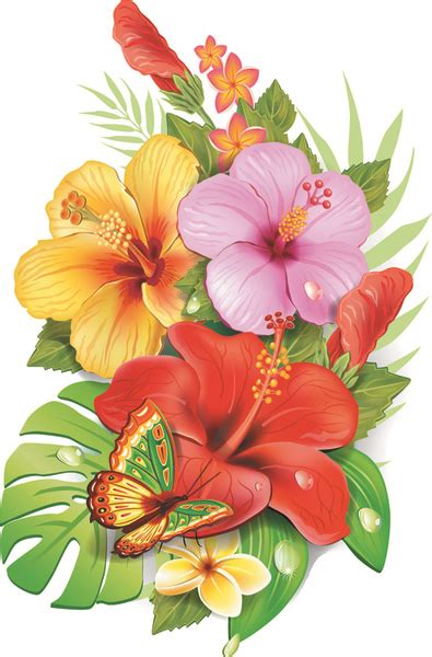 beautiful flower border  vector