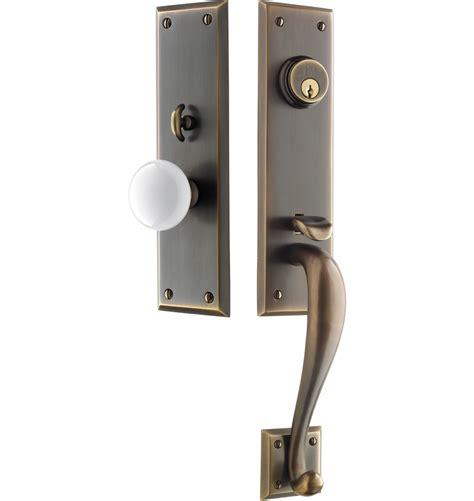 front door handles putman white porcelain knob exterior door set rejuvenation