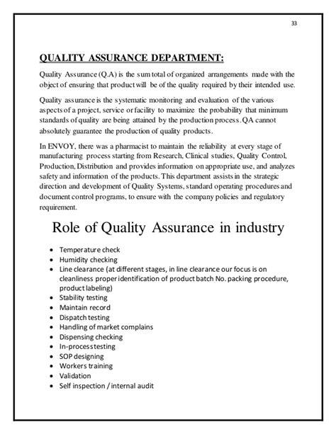 assurance bureau internship report for pharmaceutical industry