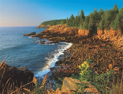 Pictures Of Rocky Mountains Acadia National Park Maine Scene