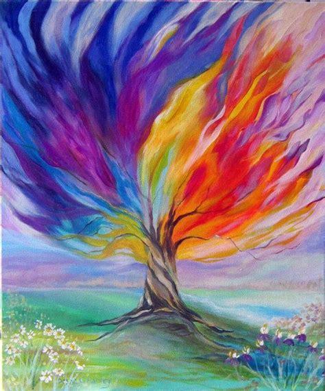 como pintar paisajes en acrilico