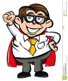 Cartoon Nerd Superhero