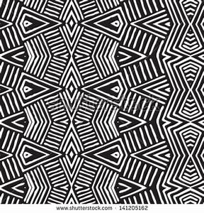 Vector African Pattern (Seamlessly Tiling). Seamless ...