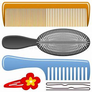 Comb and Hairbrush Set stock vector. Image of clipart ...