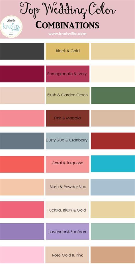 wedding color scheme top wedding color combinations knotsvilla
