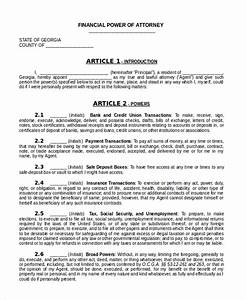 Sample Power of Attorney Form 20 Free Documents in Word