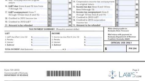 Form 720 Kentucky Corporation Income Tax