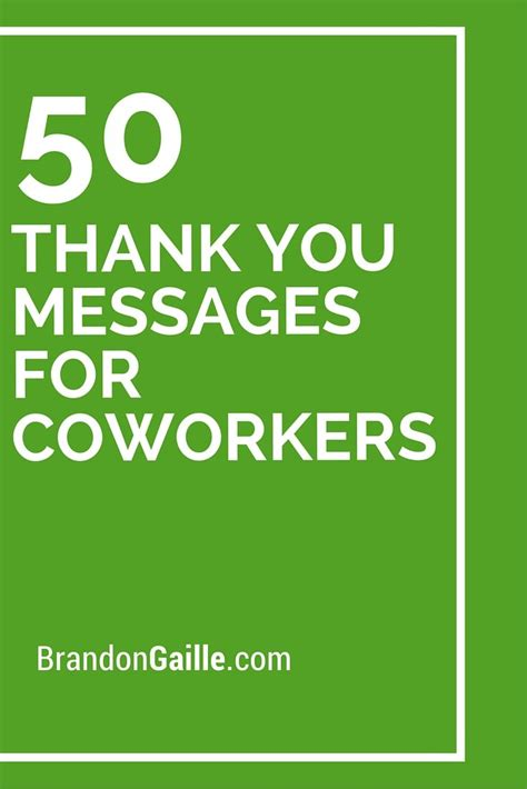 51 Thank You Messages for Coworkers   Messages, 50th and