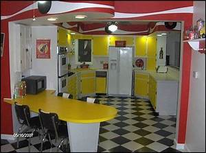 home kitchen 50s diner style 50s theme decor 1950s With kitchen cabinets lowes with coca cola wall art