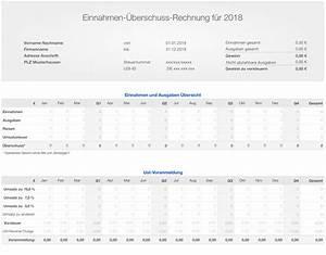 Ust Berechnen : numbers vorlage einnahmen berschuss rechnung e r 2018 anlage eks arbeitsagentur ~ Themetempest.com Abrechnung