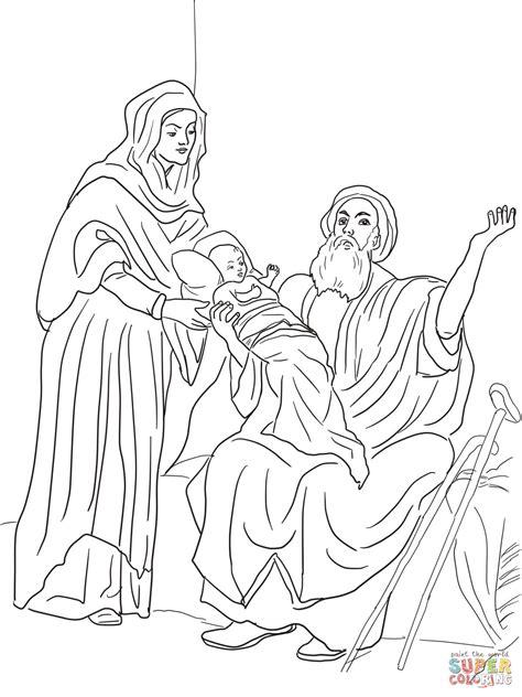 coloriage enfant jesus dans le temple coloriages
