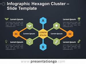 Infographic Hexagon Cluster For Powerpoint And Google Slides