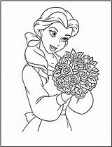 Princess Coloring Disney Pages Printable Belle Colouring Sheet Printables Beauty Fanclub sketch template