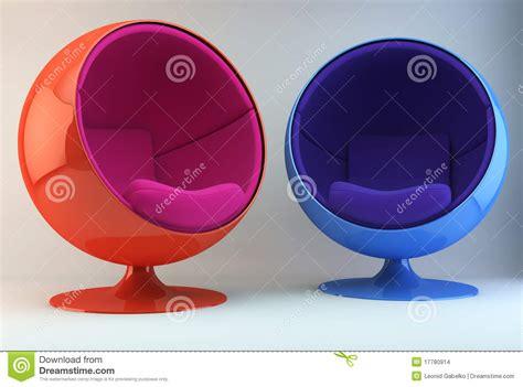 Multi Poltrone Colorate Illustrazione Di Stock