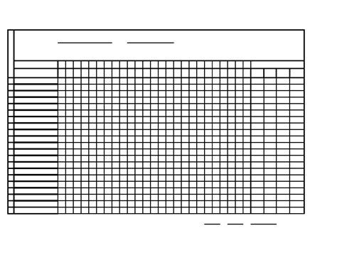 monthly attendance sheet
