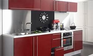 Les 4 Murs Bordeaux : cuisine rouge bordeaux but ~ Zukunftsfamilie.com Idées de Décoration