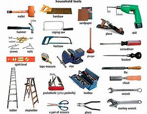 Tool Names In English  30  Common Household Tools