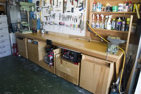 shop workbench  cabinets  chuck vosburgh