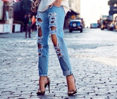 Hole Story Destroyed Boyfriend Jeans   GoJane.com