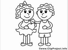 Mädchen und Junge Valentinstag Ausmalbilder für Kinder