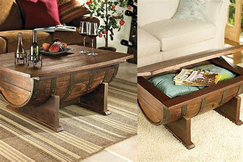 build  diy whiskey barrel coffee table