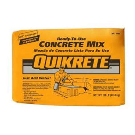 Quikrete 90 lb. Concrete Mix 110190   The Home Depot