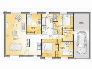 1000 ideas about maison de plain pied on pinterest With plan de maison 110m2 1 maison 110m2 top maison
