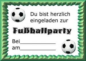 fussballparty einladungen mottopartys