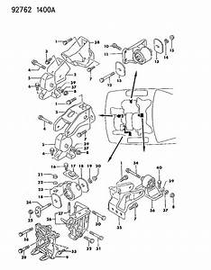1992 Dodge Stealth Engine Mounting And Support
