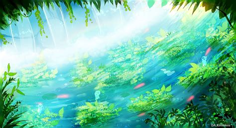 Anime Green Wallpaper - fondos de pantalla luz de sol bosque anime naturaleza