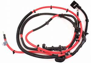 Trunk Battery Cable Wiring Harness 06-10 Vw Passat B6 - Genuine