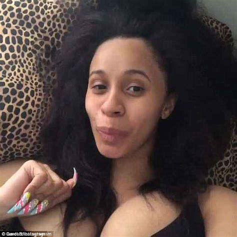 cardi b without her wig cardi b wore a t shirt and no makeup for secret marriage