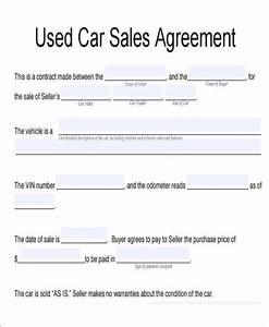 car sales agreement template kidscareerinfo With contract template for selling a car
