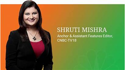Cnbc Anchor Shruti Anchors Tv18 Business Mishra
