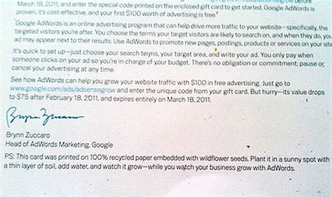 Google Adsense Letters Being Embedded With Wildflower