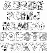 Coloring Alphabet Pages sketch template