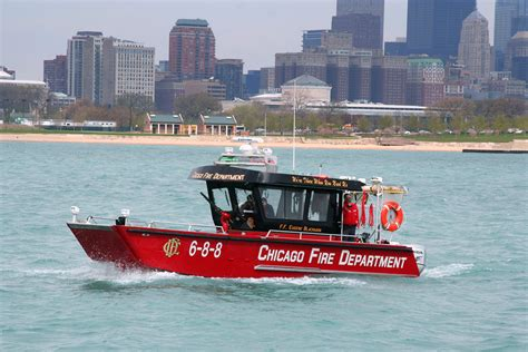 Fast Boat Chicago by The Christopher Wheatley Fire Boat 171 Chicagoareafire