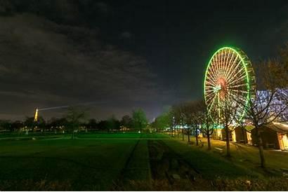 Eiffel Tour Roue Grande Nuit Illumine Quand