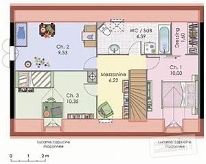 Plan Maison A Etage : maison classique d tail du plan de maison classique faire construire sa maison ~ Melissatoandfro.com Idées de Décoration
