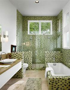 Le carrelage mosaique pour la déco de la salle de bains Archzine fr