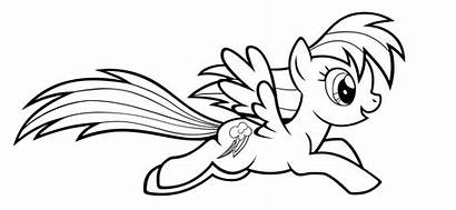 Dash Rainbow Coloring Pages Pony