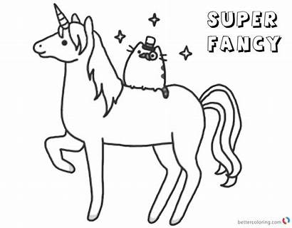 Pusheen Unicorn Coloring Pages Fancy Super Printable
