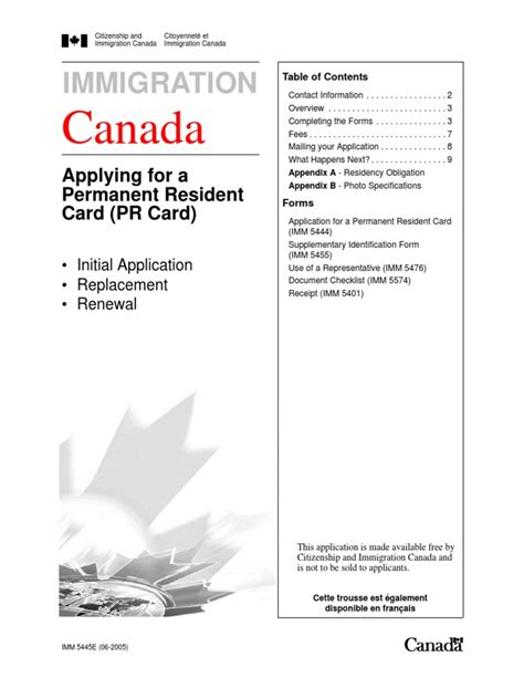 permanent resident form canada permanent resident card renewal canada contact number