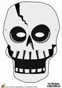 Masque Halloween A Fabriquer : masque de squelette pour halloween ~ Melissatoandfro.com Idées de Décoration