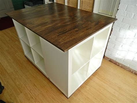 bureau expedit diy rolling craft table on wheels ikea 3x expedit