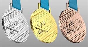 3D model Olympic Medal Gold Silver Bronze 2018 Pyeongchang
