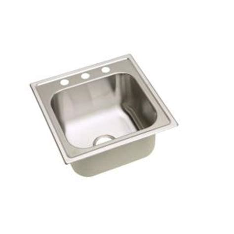 home depot utility sinks stainless steel elkay signature 20 in x 20 in 3 stainless steel top