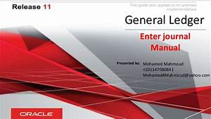 Oracle Fusion General Ledger
